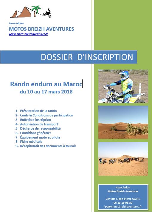 dossier rando Maroc 2018
