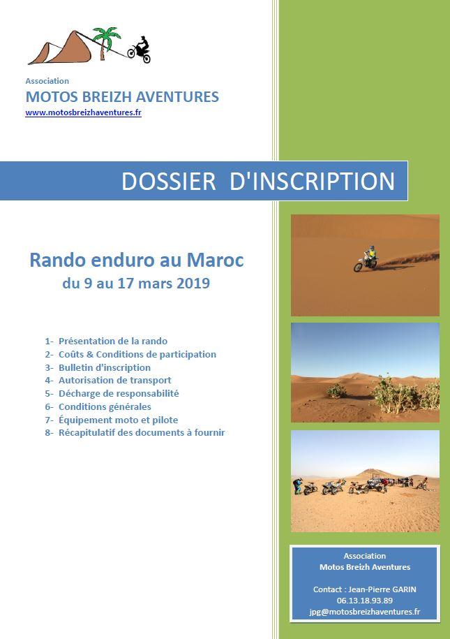 dossier rando Maroc 2019