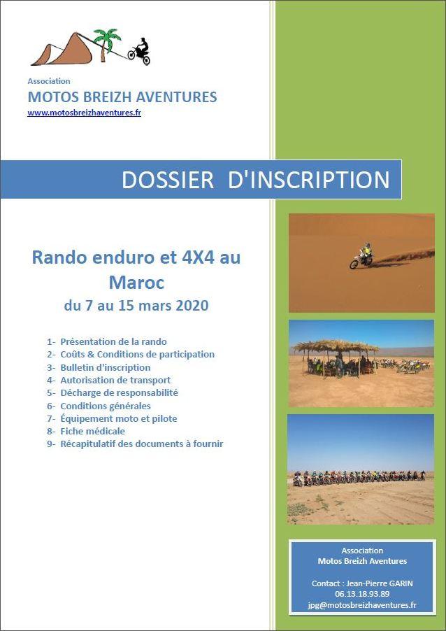 dossier rando Maroc 2020